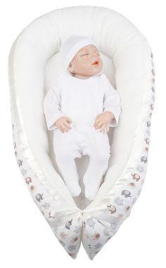 Hniezdo pre bábätko LittleUp Elephant Beige