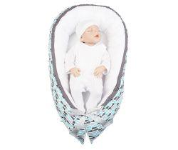 Hniezdo pre bábätko LittleUp Happy Bubbles Blue