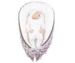 Hniezdo pre bábätko LittleUp Happy Bubbles Pink