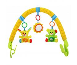 Hrazdička s hračkami BabyMix  Psík a kamarát