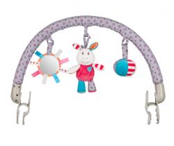 Hrazdička s hračkami BabyOno Frankie / Mickey