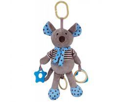 Hudobná plyšová hračka Baby Mix Myšička modrá