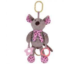 Hudobná plyšová hračka BabyMix Myšička ružová