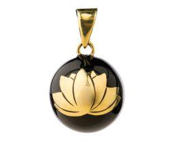 Hudobné prívesok Babylonia Bola Black with gold lotus