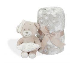 Deka 80x110 cm Interbaby Medvedík s medvedíkom