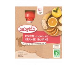 Jablko, pomaranč, banán 4x90g Babybio