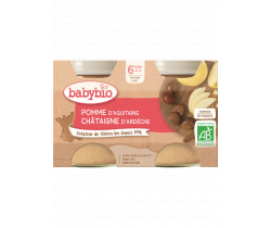 Jablko s gaštanovým pyré 2x130g Babybio