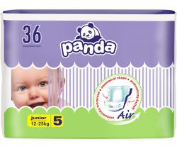 Plienky Bella Baby Panda Junior 5 (12-25 kg) 36 ks