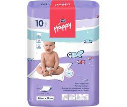 Jednorázové prebaľovacie podložky 60x60 cm Bella Baby Happy 10 ks
