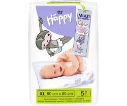Jednorázové prebaľovacie podložky 90x60 cm Bella Baby Happy 5 ks
