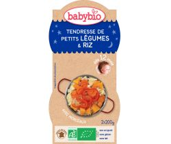 Jemná zeleninka s ryžou 2x200g Babybio