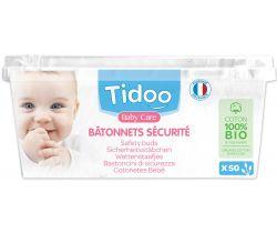 Jemné bavlnené čistiace tyčinky Tidoo Bio/Organic (50ks)