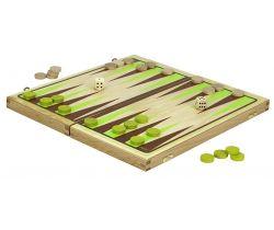 Backgammon hra v drevenom skladacím boxe JEUJURA