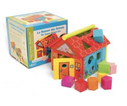 Domček s vkladacími kockami Jeujura