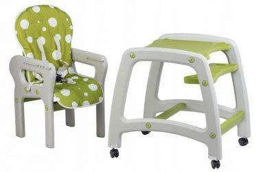 Jedálenská stolička 2v1 EcoToys Green