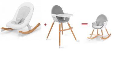 Jídelní židlička Kinderkraft Fini + Lehátko Kinderkraft Finio