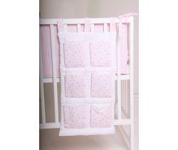 Vreckár na postieľku LittleUp Lux Pink Star / Moon