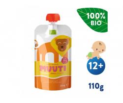 Kapsička Banán, broskyňa a mango s ryžovým proteínom (110 g) Salvest muuta BIO