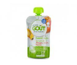 Kapsička kokosový jogurt s mangom, banánom a Marakuja 90 g Good Gout Bio