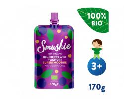 Kapsička Ovocné smoothie s čučoriedkami, jogurtom a quinoa (170 g) Salvest Smushie BIO