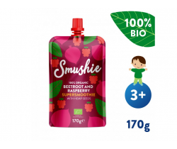 Kapsička Ovocné smoothie s červenou repou, malinami a konopnými semienkami (170 g) Salvest Smushie BIO