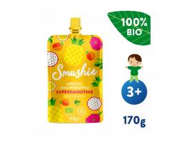 Kapsička Ovocné smoothie s marhuľou, ananásom a ľanovými semienkami (170 g) Salvest Smushie BIO