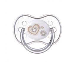 Kaučukový cumlík čerešnička Canpol Newborn Baby White