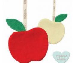 Klip na cumlík Babylonia Comfort Buddies Apple Red/Yellow