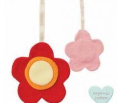 Klip na cumlík Babylonia Comfort Buddies Flower Red/Baby Pink