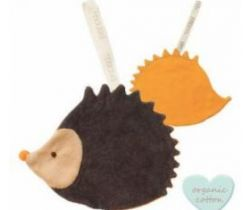 Klip na cumlík Babylonia Comfort Buddies Hedgehog Orange/Anthrazite
