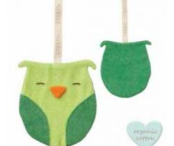 Klip na cumlík Babylonia Comfort Buddies Owl Lime/Dark Green