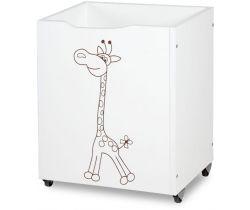Klups drevený box na hračky žirafa