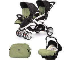 kočík pre dvojčatá Casualplay Stwinner, Autosedačka Baby 0+ a taška