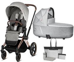 Kočík Set 2v1 Cybex Priam Koi 2020 Podvozok Rosegold + Seat Pack + Hlboká korbička Lux + Taška