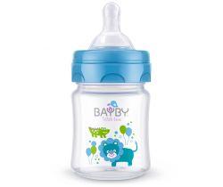 Kojenecká fľaška 120 ml modrá Bayby BFB 6101