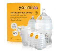 Dojčenská fľaša 140 ml, 2x ohrievač, cumlík na fľašu, nádoba na ohrievač Yoomi