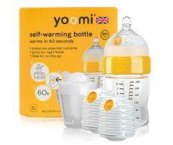 Dojčenská fľaša 240 ml, 2x ohrievač, cumlík na fľašu, nádoba na ohrievač Yoomi