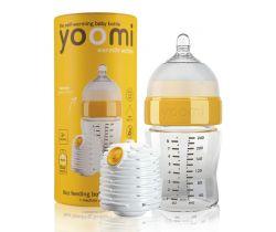 Dojčenská fľaša 240 ml, cumlík na fľašu Yoomi