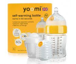 Dojčenská fľaša 240 ml, ohrievač, cumlík na fľašu, nádoba na ohrievač Yoomi