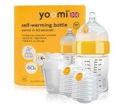 Dojčenská fľaša 240 ml, ohrievač Warmer, cumlík s pomalým prietokom, obal na nabíjanie ohrievača