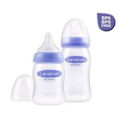 Kojenecká fľaška 240 ml so savičkou M Lansinoh NaturalWave