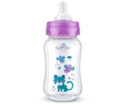 Kojenecká fľaška 250 ml fialová Bayby BFB 6103