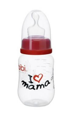 Kojenecká fľaška Bibi 120 ml I love Mama