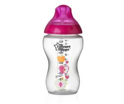 Kojenecká fľaška s obrázkami Tomme Tippee C2N, 340ml, 3+ Ružové Jabĺčka