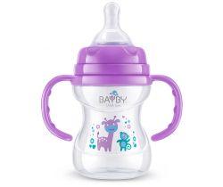Kojenecká fľaška s úchytmi 150 ml fialová Bayby  BFB 6105