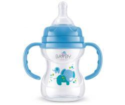 Kojenecká fľaška s úchytmi 150 ml modrá Bayby BFB 6104