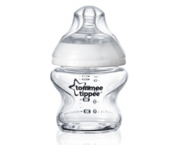 Kojenecká fľaška sklenená 150 ml 0m+ Tommee Tippee