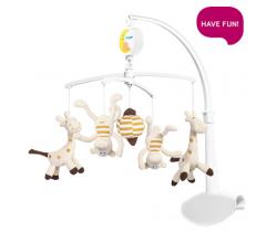 Kolotoč nad postieľku BabyOno Plyšové Šílené Opičky a Žirafky