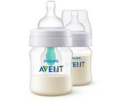 Fľaša s ventilom Airfree 125 ml 2ks Avent Anti-Colic