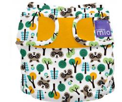 Látková plenka integrovaná v nohavičkách Bambino Mio MioSolo Raccoon Retreat